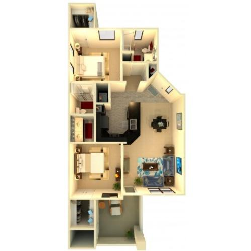 B3 | Chandler Apartments | Almeria at Ocotillo 2