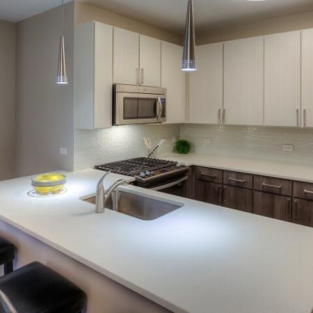 Spacious Kitchen Island | Lombard Apartments | Apex 41