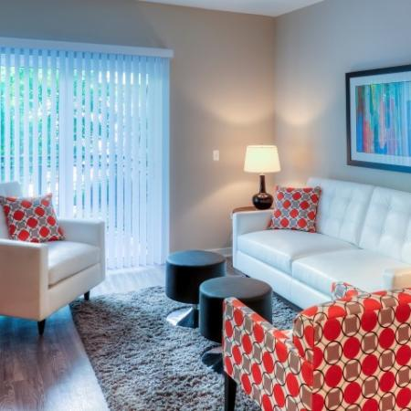 Residents Lounging in the Living Area | Lombard Illinois Apartments for Rent | Apex 41