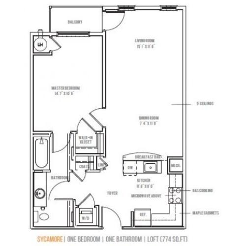 Floor Plan 2 | Lofts at Valley Forge
