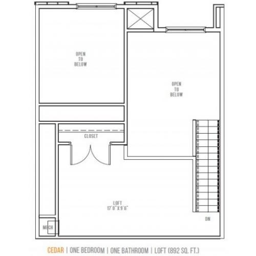 Floor Plan 7 | Lofts at Valley Forge