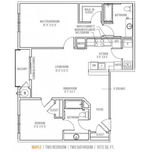 Floor Plan 9 | Lofts at Valley Forge