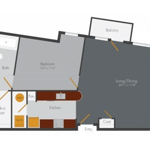 One Bedroom 2 | Pencil Factory Flats