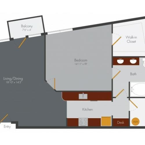 One Bedroom 4   Pencil Factory Flats