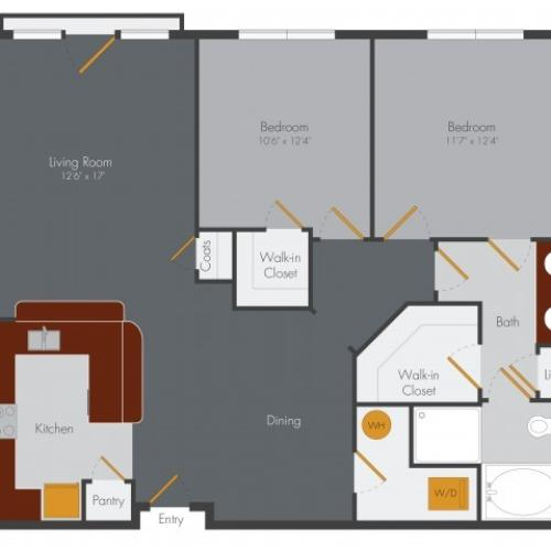 Two Bedroom 3 | Pencil Factory Flats