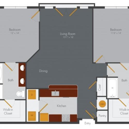 Two Bedroom 4 | Pencil Factory Flats