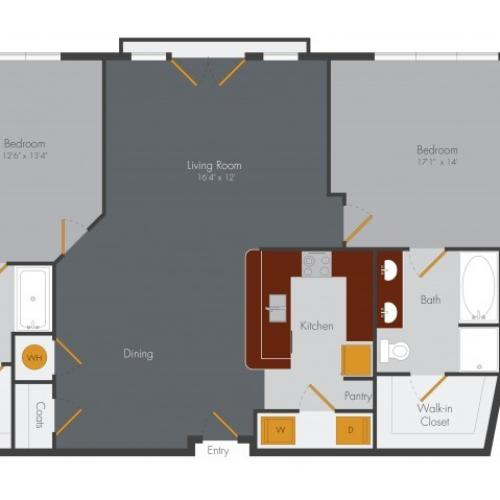 Three Bedroom | Pencil Factory Flats