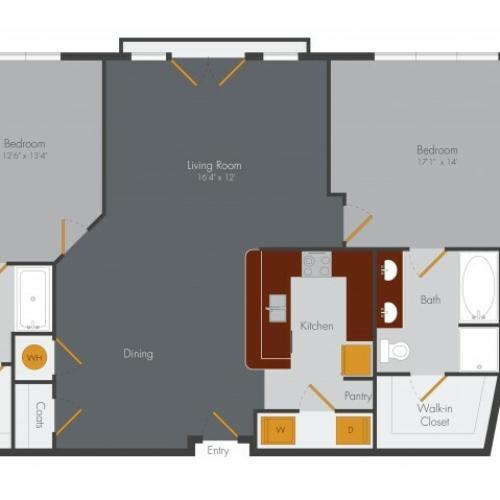 Three Bedroom | Pencil Factory Flats