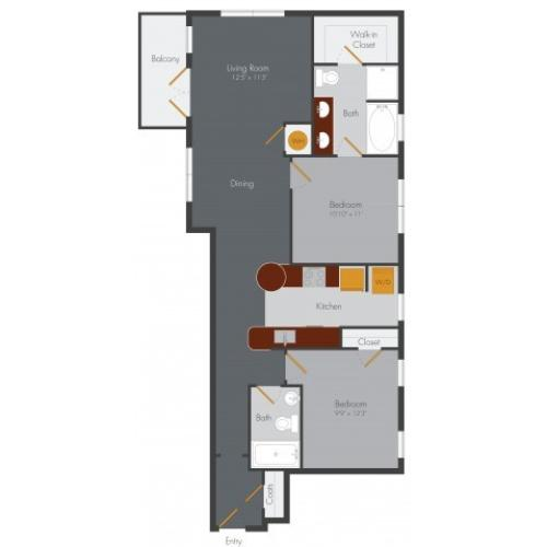 Two Bedroom 10 | Pencil Factory Flats