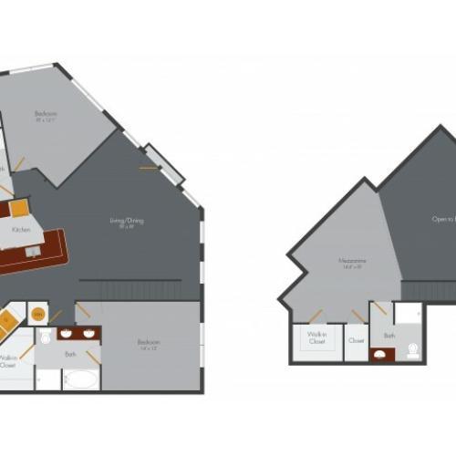 Two Bedroom 16 | Pencil Factory Flats