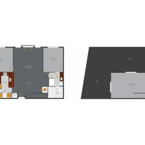 Three Bedroom 3 | Pencil Factory Flats
