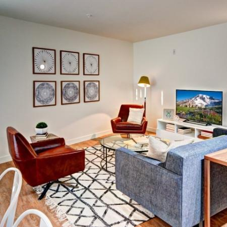 Spacious Living Area | Luxury Apartments In Seattle Washington | East Howe Steps