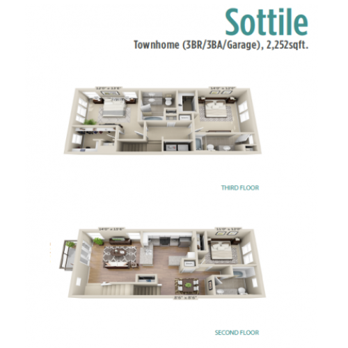 Sottile | 3 bed 3 bath | from 1602 square feet