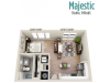 Majestic | Studio1 bath | from 546 square feet
