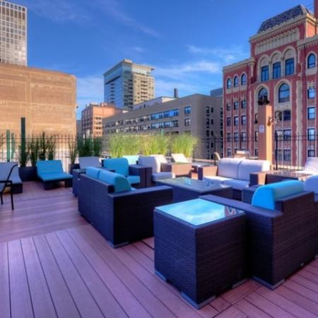 Community Sun Deck | North Chicago Apartments | The Seneca 2