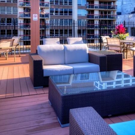 Resident Sun Deck | Studio Apartments Chicago IL | The Seneca 2