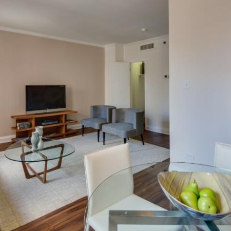 Spacious Living Room | North Chicago Apartments | The Seneca 2
