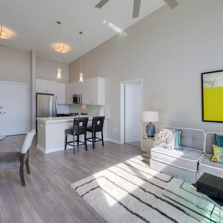 Residents Lounging in the Living Room | Lombard Apartments | Apex 41