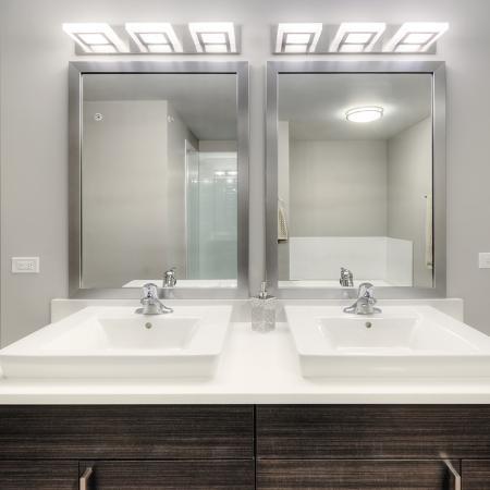 Ornate Bathroom | Apartments in Lombard | Apex 41