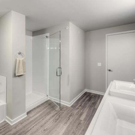 Spacious Master Bathroom | Lombard Illinois Apartments | Apex 41