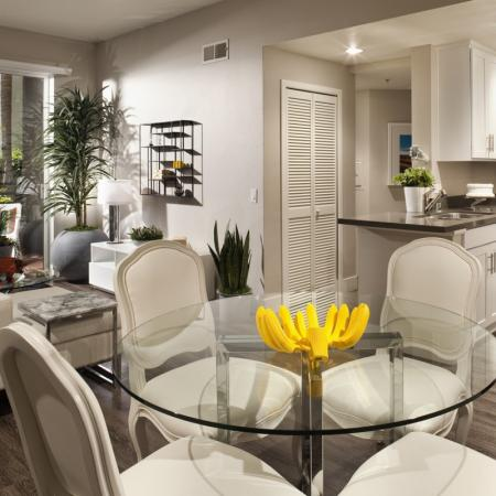 Elegant Dining Room | 1 Bedroom Apartment Santa Monica | AO Santa Monica