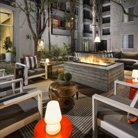 Community Fire Pit | Apartment In Santa Monica | AO Santa Monica