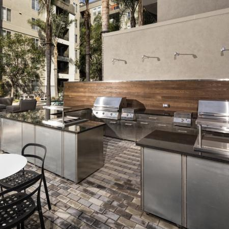 Community BBQ Grills | Apartment In Santa Monica | AO Santa Monica