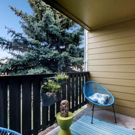 Spacious Porch Area | Westminster CO Apartments | Park Place at 92nd Apartments
