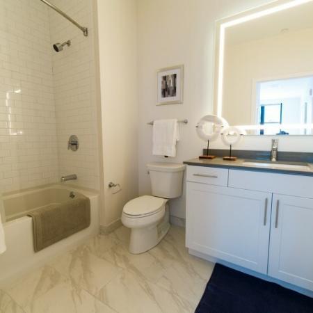 Spacious Master Bathroom | Somerville Apartment | Montaje