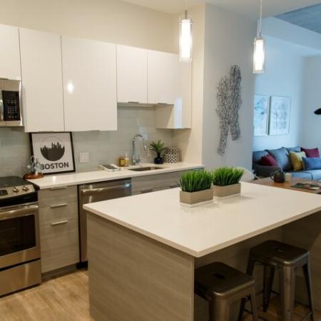 Elegant Kitchen | Somerville Luxury Apartments | Montaje