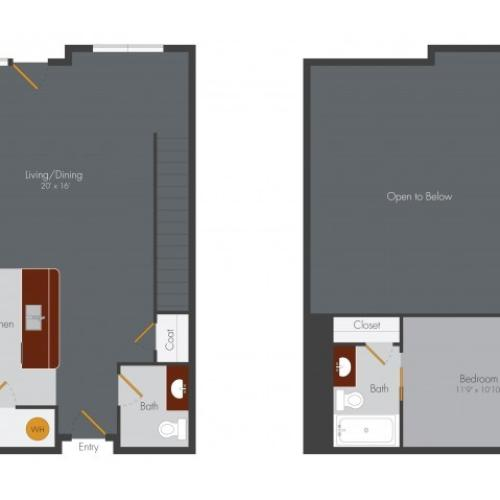 One Bedroom 8 | Pencil Factory Flats
