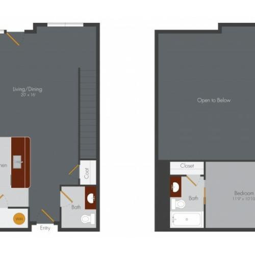 One Bedroom 8 | Pencil Factory Flats