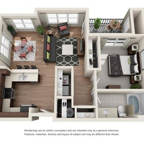 Floorplan 1 | Apartments Portland OR
