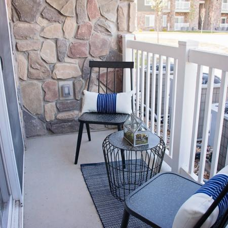 Spacious Apartment Balcony | West Valley City UT Apartments For Rent | Sandalwood Apartments