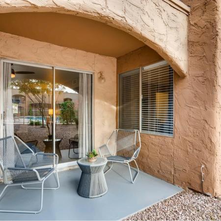 Spacious Porch Area | Scottsdale AZ Apartments | Visconti at Camelback Apartments