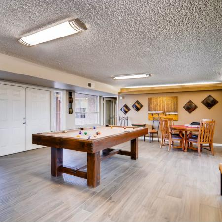 Resident Billiards Table | Apartments Scottsdale, AZ | The Glen at Old Town Apartments