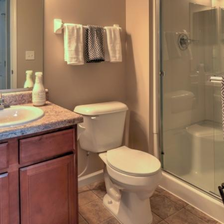 Spacious Master Bathroom | Apartments In Columbus Ohio | The Attleigh