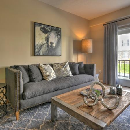 Elegant Living Room | Columbus OH Apartments For Rent | The Attleigh