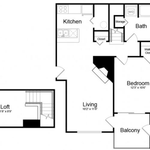 Floor Plan 2 | Apartments In Englewood | Silver Cliff