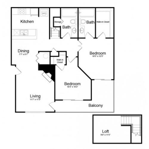 Floor Plan 6 | Englewood CO Apartments | Silver Cliff