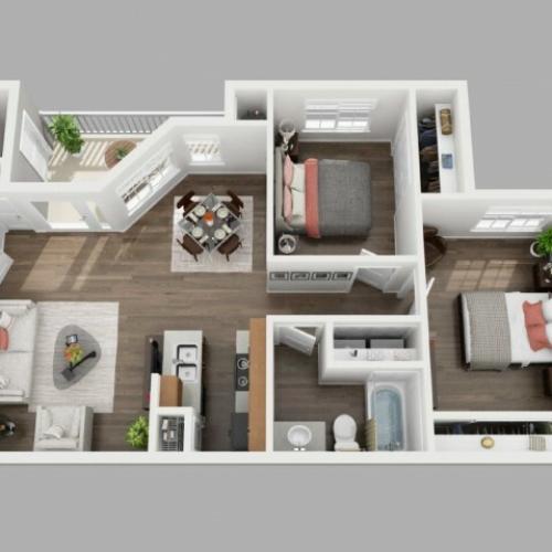 2 Bedroom Floor Plan | Copperwood