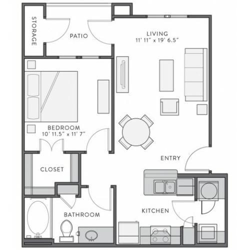 Floor Plan 1 | Apartments In Lake Charles Louisiana | Watervue