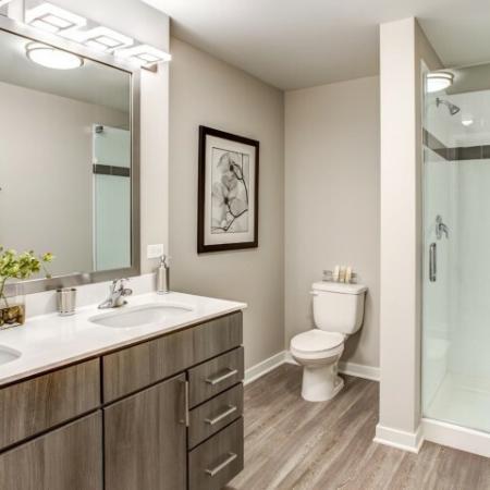 Spacious Bathroom | Apartment Homes In Lombard | Apex 41