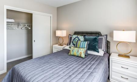 Elegant Bedroom | Apartment Homes In Lombard | Apex 41