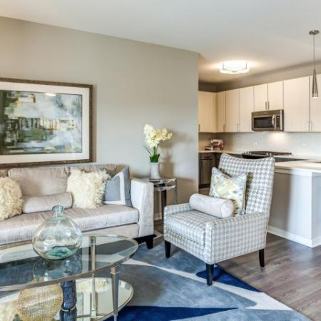 Spacious Living Room | Apartments in Lombard | Apex 41