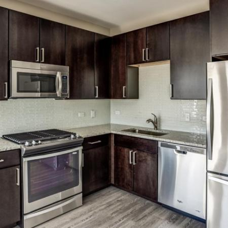 Modern Kitchen | Apartment Homes In Lombard | Apex 41