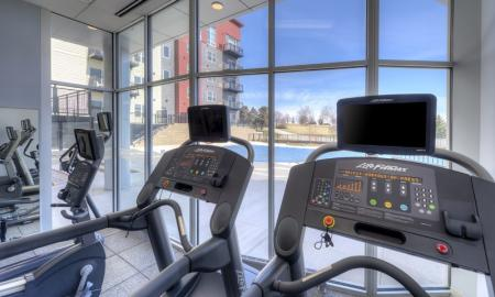 Cutting Edge Fitness Center | Lombard Illinois Apartments | Apex 41 Resident Fitness Center | Apartment Homes In Lombard | Apex 41