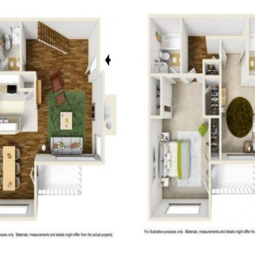 2 Bedroom Floor Plan | Renton Luxury Apartments | Montclair Heights