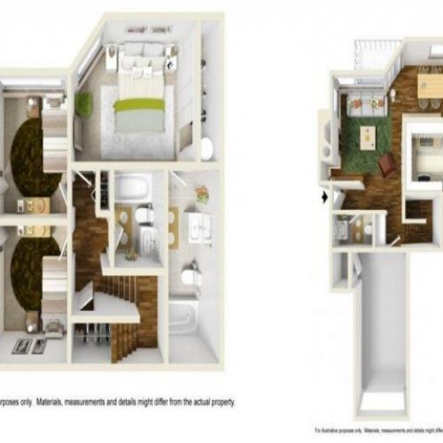 3 Bedroom Floor Plan | Renton Apartments | Montclair Heights 1