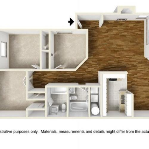 3 Bdrm Floor Plan | Luxury Apartments Renton WA | Montclair Heights